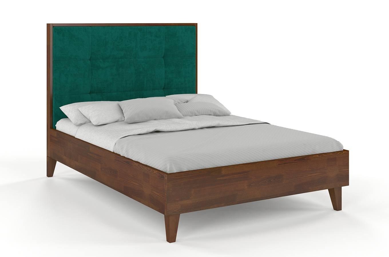łóżko Drewniane Sosnowe Visby Frida Z Wysokim Zagłówkiem