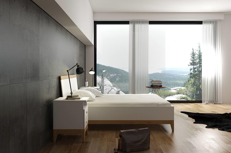 Drewniane łóżko Ze Skrzynią Visby Livia Bc
