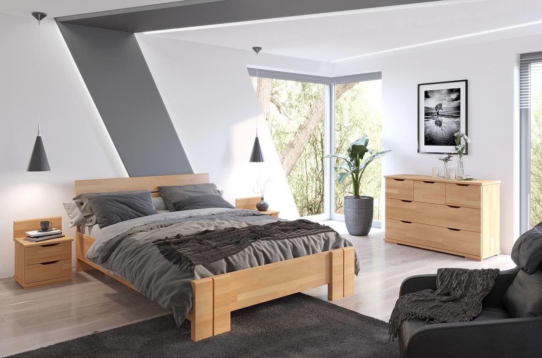 łóżko Bukowe Arhus High Bc Skrzynia Na Pościel Materac