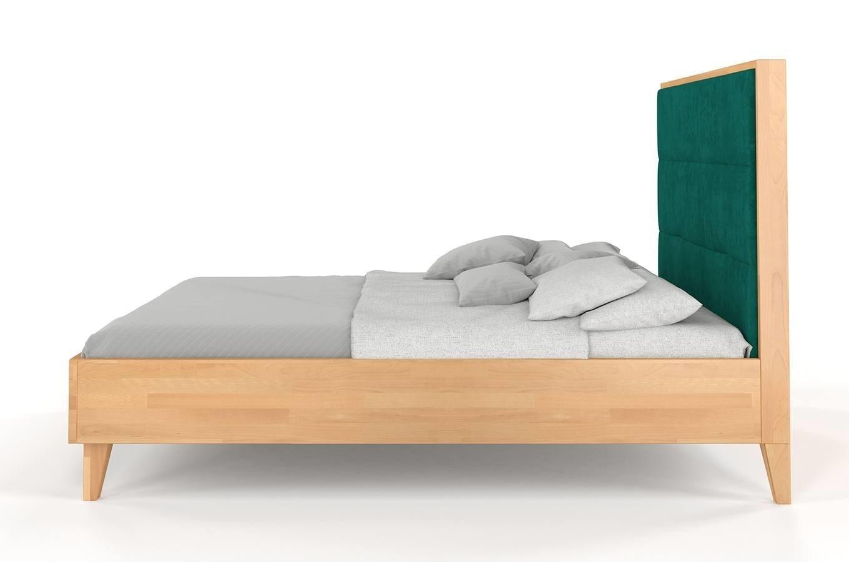 łóżko Drewniane Bukowe Visby Frida Z Wysokim Zagłówkiem