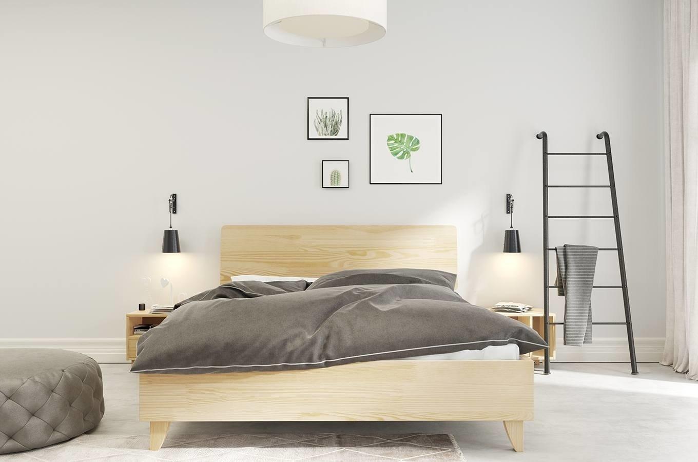łóżko Drewniane Sosnowe Visby Viveca